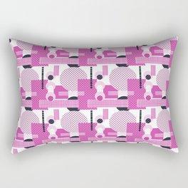 SSPOTS AND BOXX - Polka Dot, Kitsch, Circle, Pink, Sweet, Cute, Pop Art Rectangular Pillow