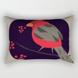 Cardinal Song Rectangular Pillow
