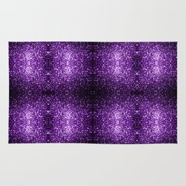 Beautiful Dark Purple glitter sparkles Rug