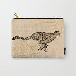 ADIOS CHEETAH modern graphic design Carry-All Pouch