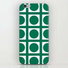 Emerald Elegant Grid Dots iPhone Skin