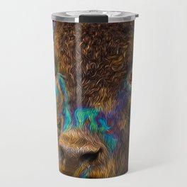 Buffalo in Oil Travel Mug