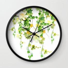 Watercolor Ivy Wall Clock