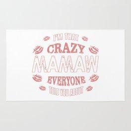 I am That Crazy Mamaw Rug