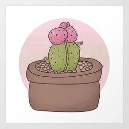 Moon Cactus Guardians Art Print