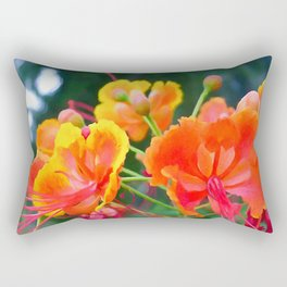Peacock flower 1 Rectangular Pillow