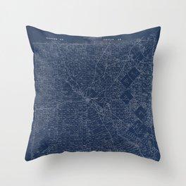 Map Of Dallas 1884 Throw Pillow