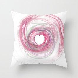 Valentine's Fractal VII - Light Throw Pillow