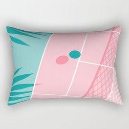Jock - tennis sport retro neon throwback palm springs los angeles hollywood california sunny pop art Rectangular Pillow