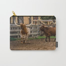 Frolicking Longhorns Carry-All Pouch