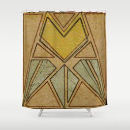 Arts & Crafts style tulip Shower Curtain
