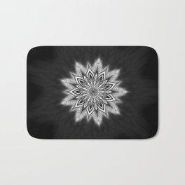 Black Ice Mandala Swirl Bath Mat