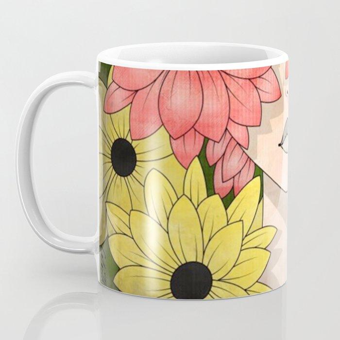 Flower Garden Girl Coffee Mug