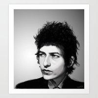 bob dylan Art Prints featuring Bob Dylan by Studio Caro △