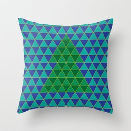 Christmas tree triangles Throw Pillow