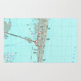 Seaside Park & NJ Shore Map (1989) Rug