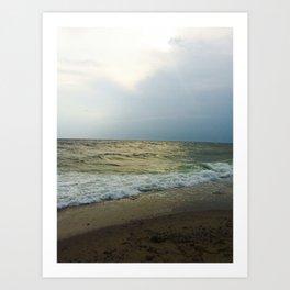 Afternoon Beach at Cape Cod  Art Print