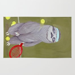 Sloths Are Bad At Things- Kevin the Tennis Star Rug