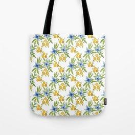 Blue Flower Power Tote Bag