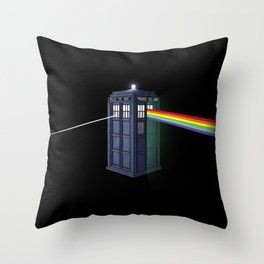 The Dark Side of the Booth Throw Pillow