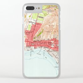 Vintage Map of Ventura California (1951) Clear iPhone Case