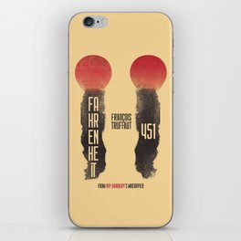 Fahrenheit 451, François Truffaut, french movie, british film, Ray Bradbury,  dystopian novel, book iPhone Skin