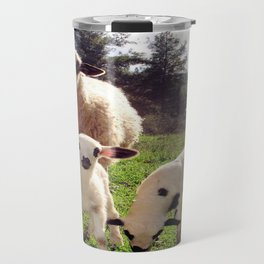 Ewe and Twin Spring Lambs Travel Mug