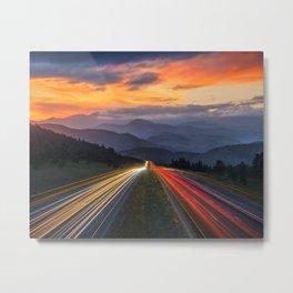 I-70 Traffic Metal Print