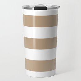 Tamarind - solid color - white stripes pattern Travel Mug