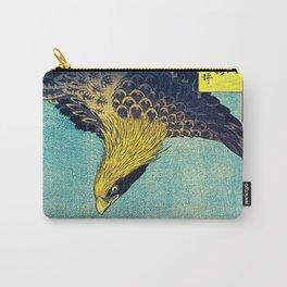 Hiroshige, Hawk Flight Over Field Carry-All Pouch