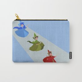 3 Fairies (Blue)  Carry-All Pouch