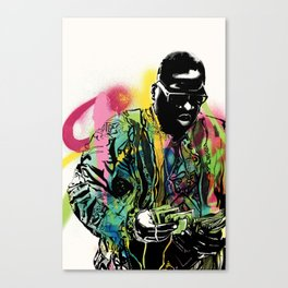 Biggie Smalls Spray Paint Illustration Canvas Print