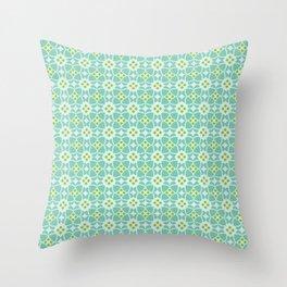 Mediterranean sky blue tiles Throw Pillow