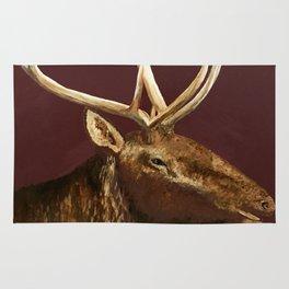 Big Bull Elk Profile Rug