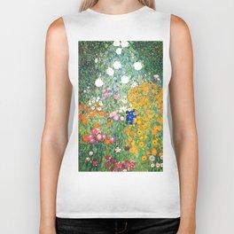 "Gustav Klimt ""Blumengarten (Flower Garden)"" Biker Tank"