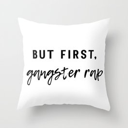 Gangster Rap Throw Pillow