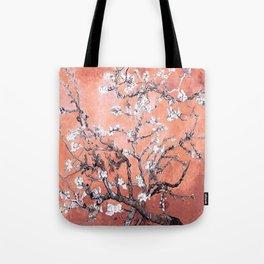 Van Gogh Almond Blossoms : Deep Peach Tote Bag