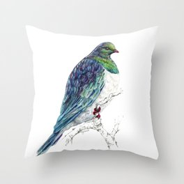Mr Kereru, New Zealand native wood pigeon Throw Pillow