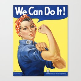 We Can Do It - Rosie the Riveter Poster Canvas Print