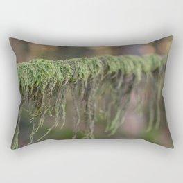 Moss on a branch Rectangular Pillow