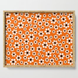 Dizzy Daisies - Orange Serving Tray