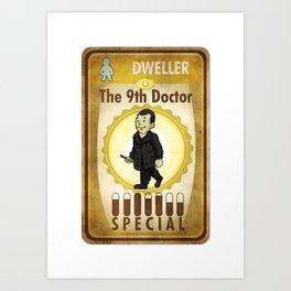 Vault-Tec Dweller, The 9th Doctor Art Print
