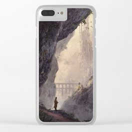 WHITE TOWERS Clear iPhone Case