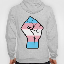 Raised Fist - Transgender Flag Hoody