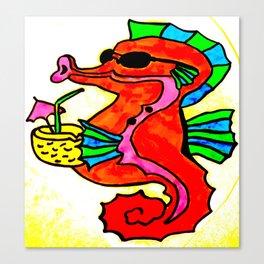 Tropical Seahorse  Canvas Print