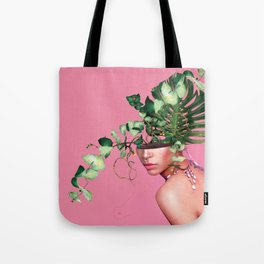 Lady Flowers VI Tote Bag