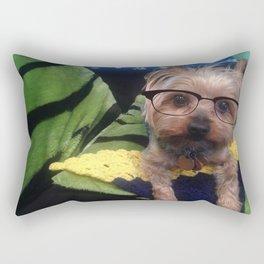 Smart Yorkie Rectangular Pillow