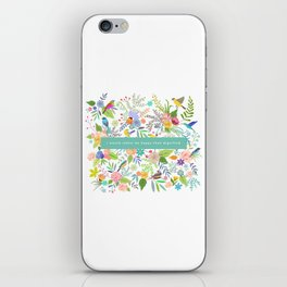 Jane Eyre - I Would Rather Be Happy Than Dignified iPhone Skin