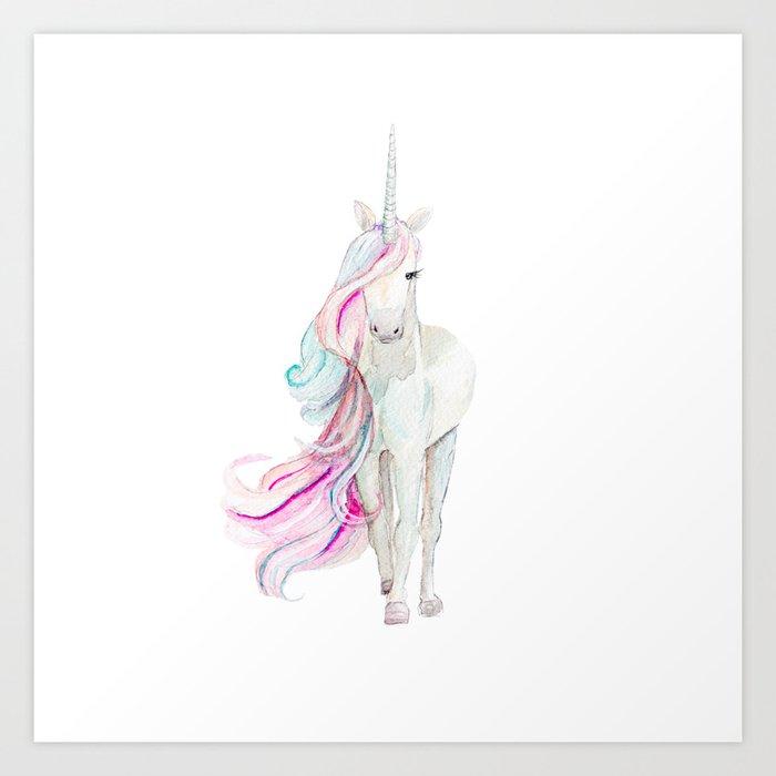 Watercolor Unicorn Art Print