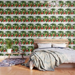 Red Cherries Vector on White Background Wallpaper